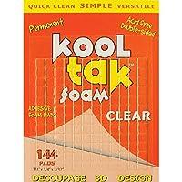 KOOL TAK Clear Foam Pads, 1/4-Inch by 1/4-Inch by 1/32-Inch 144 Pads