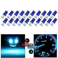 CCIYU 20パックアイスブルーt10W5wウェッジ168194LED電球、201320142015Infiniti jx35( qx60)ドームライトマップライトステップ/礼儀/ドアライト