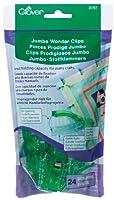 Clover 3157 24-Piece Jumbo Wonder Clips with Seam Allowance Markings 2-1/4-Inch Green [並行輸入品]