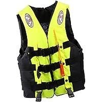 SONONIA  水泳 漂流用 ライフジャケット ベスト サバイバル スーツ 全3色3サイズ選ぶ - イエロー, M