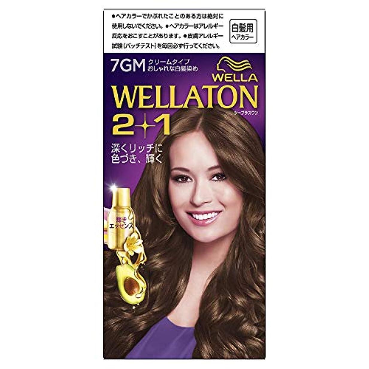 同様に分泌する感情のウエラトーン2+1 白髪染め クリームタイプ 7GM [医薬部外品] ×6個