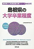 島根県の大学卒業程度 2018年度版 (島根県の公務員試験対策シリーズ)