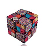 5様式 曼荼羅  立体パズル スピードキューブ (Luxury EDC Infinity Cube) おもちゃ ストレス解消  ADD & ADHD 集中力を向上し 不安を軽減し 知育おもちゃ (彩色, ボヘミア風)
