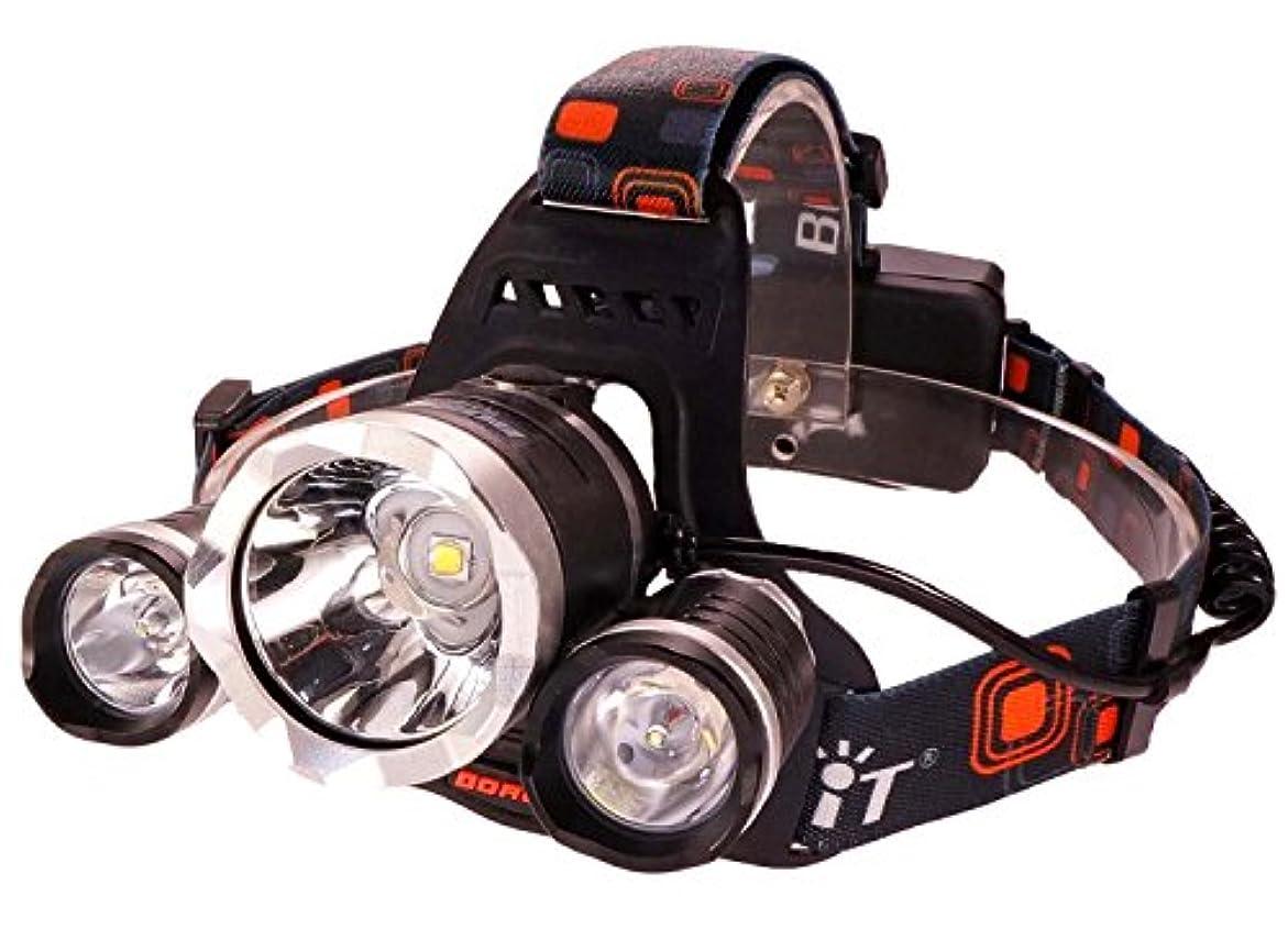 むしろ非互換彫刻BORUIT(ヴォルイット) RJ-5000 ヘッドライト 【CREE XM-L2 U2 × 3灯 5000ルーメン 】 防水 LED フラッシュライト Rj-5000