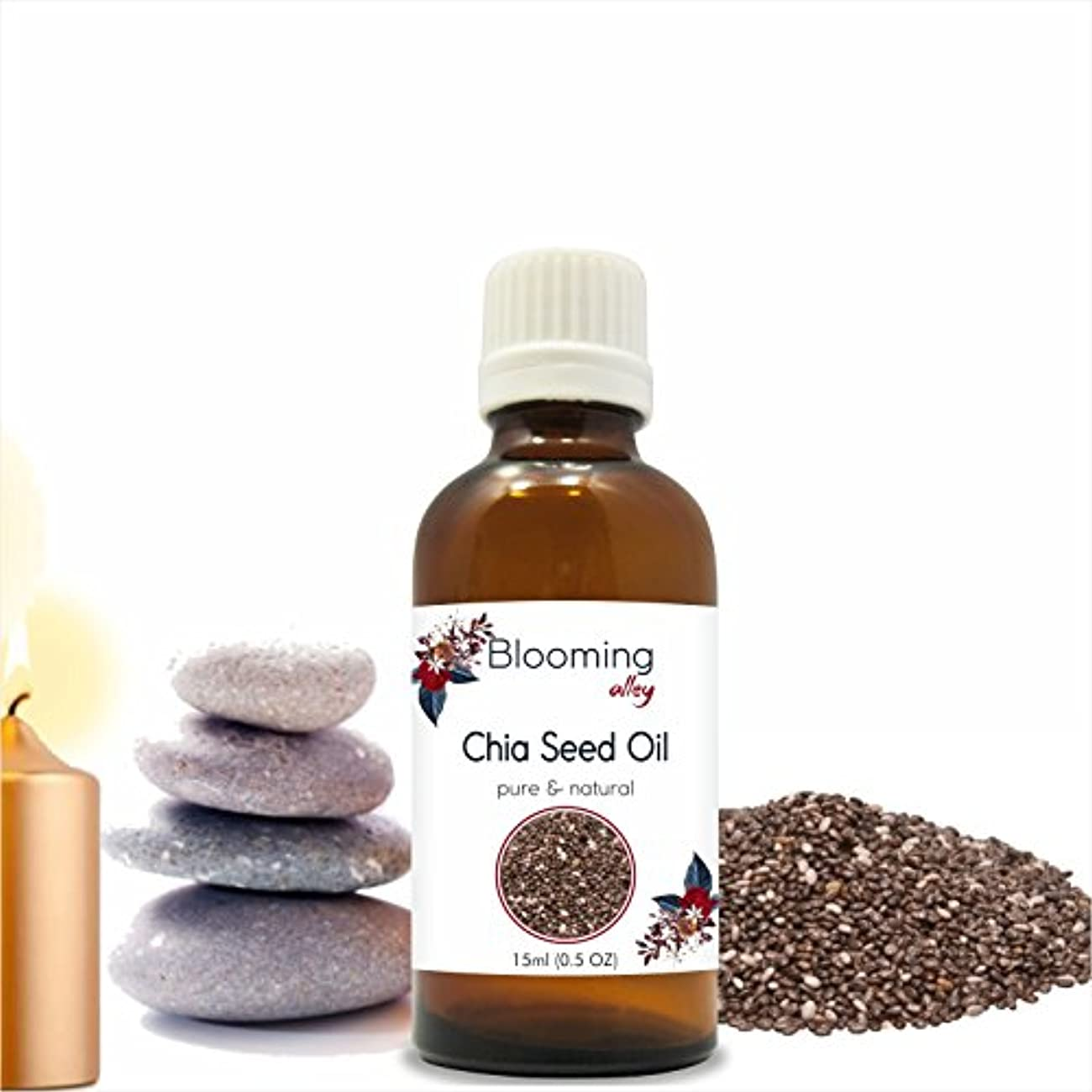 式鋼接ぎ木Chiaseed Oil(Blooming Alley Hispanica) 15 ml or .50 Fl Oz by Blooming Alley
