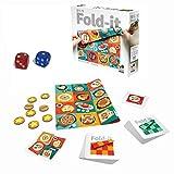 Fold It 頭の体操 チャレンジゲーム-柔らかい布を使用した革新的な折りたたみゲーム [2つのサイコロが含ま]