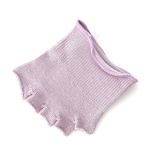 (Tabio)タビオ しっとり絹のつま先なし5本指ソックス22?24cm【気持ちいいシルクの靴下】 ライラック