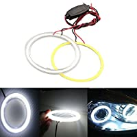 Grandview GrandviewTM 1 Pair (2pcs) Car Light LED Chips 100MM 72SMD Angel Eyes Halo Ring Headlight Warning Lamps 12V with Shell-White [並行輸入品]