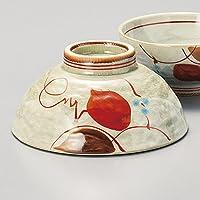 ご飯茶碗 赤絵木の葉毛料飯碗 和食器 業務用 美濃焼