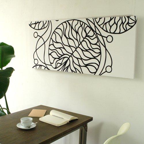 marimekko マリメッコファブリックアートパネル BOTTNA/WHITE 1200×500mm(類語/ファブリックボード,ファブリックパネル)