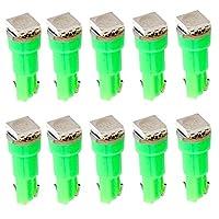 nice T5 LED グリーン 緑 green 高輝度 5050 1-SMD LEDバルブ 汎用 メーター ウェッジバルブ LED 電球 10個 T5-1SMD-G