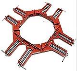 DIY 工具 木工用 溶接 コーナークランプ 4個 セット (オレンジ4個)
