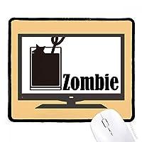 単語ゾンビとゾンビ・カクテル マウスパッド・ノンスリップゴムパッドのゲーム事務所