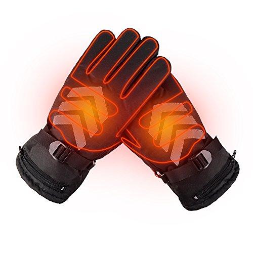ヒーターグローブ 高品質充電式ホットグローブ 電気暖房手袋 義務手袋 反射ストライプ 裏起毛 防水 防風 バイク自転車用 タッチパネル対応 男女兼用 防寒対策