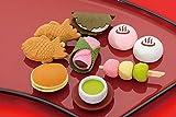 イワコー おもしろ 消しゴム 和菓子 ケシゴム 食べ物 セット (9個入り)