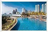 マンダリンオリエンタルクアラルンプールマレーシアプールリゾート25556のティンサイン 金属看板 ポスター / Tin Sign Metal Poster of Mandarin Oriental Kuala Lumpur Malaysia Swimming Pool Resort 25556