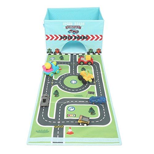 Eggsnow おもちゃ箱 プレイマット付き 折りたたみ式 おもちゃ収納ボックス 38 * 38 * 25cm