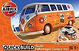 エアフィックス クイックビルドシリーズ VWキャンパーバン サーフィン ノンスケール 塗装済みブロック式組み立てキット QB0032