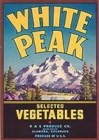 ホワイトピークVegetableラベル 9 x 12 Art Print LANT-1677-9x12