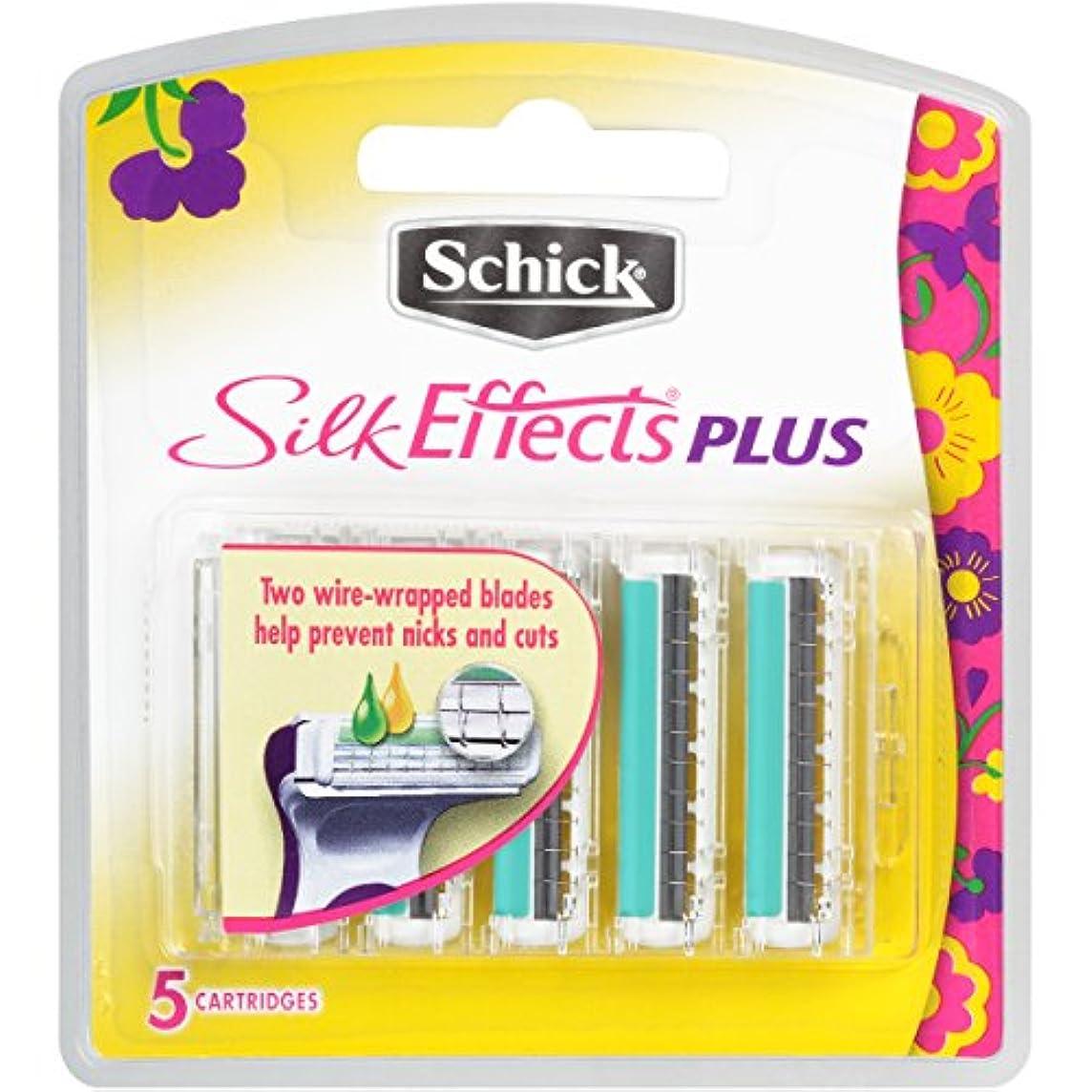 大人きしむ主張Schick 女性のためのシルク効果プラスカミソリリフィル - 5カウント