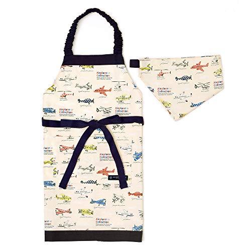 三角巾付き 子ども エプロン身長100-120cmサイズ 【...