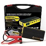 CAR ROVER ジャンプスターター バッテリーレスキュー 14000mAh 800A マルチチャージャー 車用バッテリー充電器 カーエンジンスターター 緊急始動 モバイルバッテリー 非常用電源  60C放電率