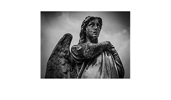 amazon angel statue sculpture canvas wall art print 像壁 アート