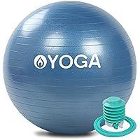 OYOGA バランスボール 空気入れ ポンプ 付き ジムボール ヨガボール ピラティスボール エクササイズボール