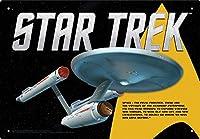 Tin Sign - Star Trek Enterprise Plate New Licensed Gift Toys 30089