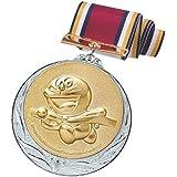 ドラえもん メダル 銀 ランナー 直径70mm 日本製 DRZ-2005S