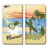 Tiara AQUOS PHONE Xx mini 303SH スマホケース 手帳型 ベルトなし HAWAII 旅行 海 トロピカル 手帳ケース カバー バンドなし マグネット式 バンドレス [EB22301_03]