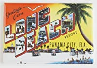 Greetings from Long Beach Florida冷蔵庫マグネット( 2x 3インチ)