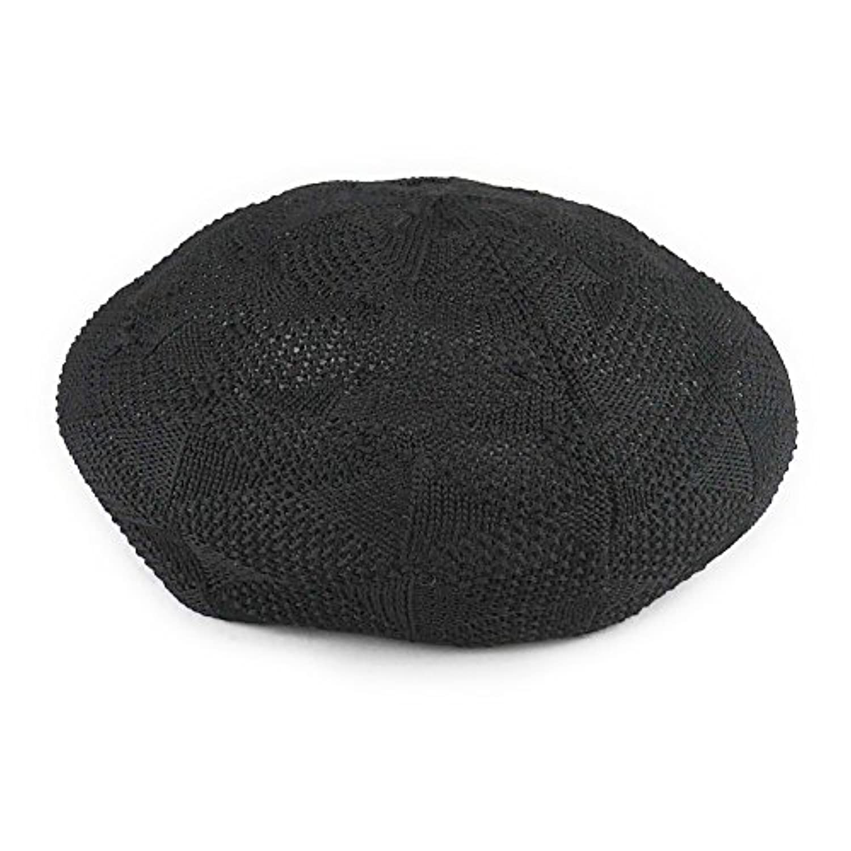 【ノーブランド品】 no brand (カラー : ブラック ) 帽子 柄サーモベレー 模様編み サーモ ベレー帽 レディース メンズ 春 夏 男女兼用 アーガイル ダイヤ