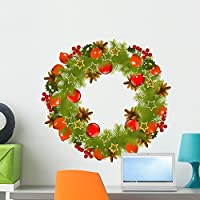Wallmonkeys WM104040 Christmas Vector Garland Peel and Stick Wall Decals (24 in W x 23 in H) by Wallmonkeys Wall Decals