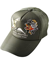 ALPHA INDUSTRIES Inc (アルファインダストリーズ) スーベニア 刺繍 メッシュキャップ 帽子 メンズ キャップ アメカジ ワッペン アルファ MA-1 ベトジャン 東洋 スカジャン