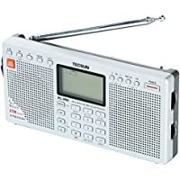 TECSUN PL-390 デジタルDSP短波ラジオ 左右ステレオスピーカー ポータブルBCL受信機 FMステレオ/LW/MW/SW ワールドバンドレシーバー 550局プリセットメモリー USB給電 ATSオートプリセット ETM スリープタイマー アラーム 高音質大口径スピーカー (ブラック)