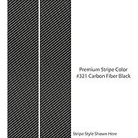 """8""""デュアルソリッドプレミアムRacing Stripes /カラーカーボンファイバーブラック/を選択ギャップ幅/車トラック車ビニールデカール/カスタムMade by 1060グラフィックス 1.5"""" Gap Width ブラック 1060_Graphics_DualSolid8_321"""