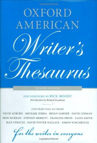 Download Oxford American Writer's Thesaurus 0195342844