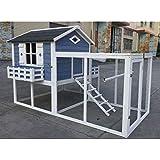 Flyline Garden Window Chicken Coop House 2130x1385x1310mm Chook Pen Rabbit Hutch Nesting Box Poultry Enclosure with Mesh Floo