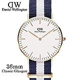Daniel Wellington ダニエル ウェリントン レディース腕時計 クラッシー レディース 腕時計 ナイロン ピンクゴールド 0503DW 36mm [並行輸入品]
