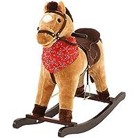 乗れるぬいぐるみ ロッキング かわいい乗り物 ロッキングホース 座れる特大ぬいぐるみ 〔ウマ〕 ブラウン