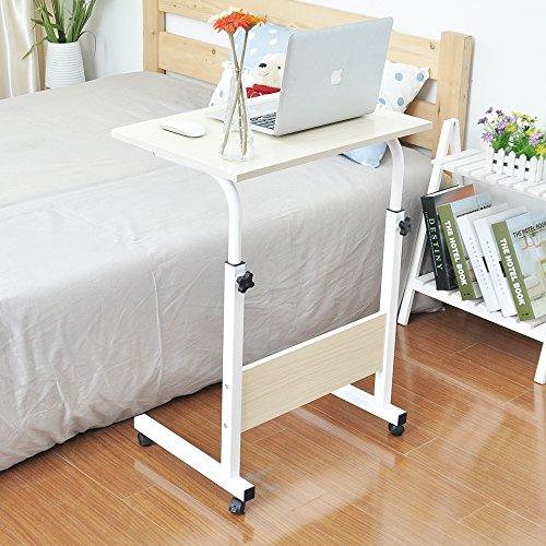 Soges 昇降式サイドテーブル ノートパソコンスタンド 折りたたみテーブル,ナチュラル …