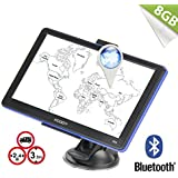 Xgody 886BT 7 inch Bluetooth Car GPS Navigation 8GB+256MB with Sun Shade Capacitive Touchscreen SAT Nav with Lifetime Map Updates (886BT)