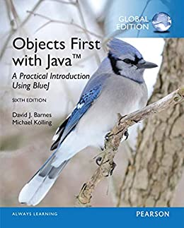 Objects First with Java: A Practical Introduction Using BlueJ, Global Edition by [Barnes, David J.]