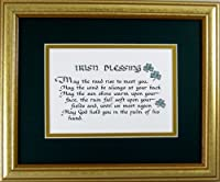 Irish Blessing Saying Home Decor Wall Hanging Framed by McDarlins Calligraphy