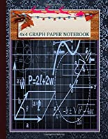 A Perfect Christmas Gifts for  Math & Science Students   Graph Lined Paper Composition Notebook 1/4 inch   squares Quad Blank Ruled 4x4 Squared inches.: Perfect for  all ages -- kids or adults!  Wonderful as a gift, present, or personal notebook!