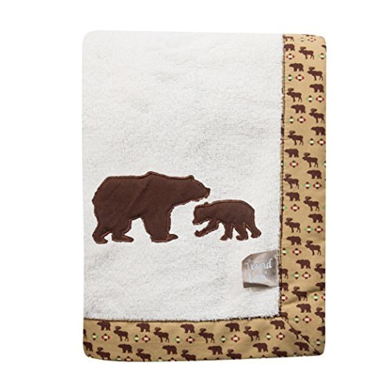 Trend Lab Northwoods Framed Receiving Blanket, Bears Applique by Trend Lab [並行輸入品]