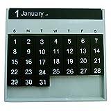 スレンシル カレンダー オールウェイズ 卓上 グレー TD-402