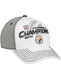 Reebok(リーボック) Pittsburgh Steelers 2010 AFC Champions Locker Room ストレッチフィットキャップ [並行輸入品]