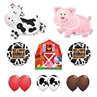Barn Farm Animals Birthday Party Cow Pig Barn Balloons Decorations Supplies by Anagram [並行輸入品]